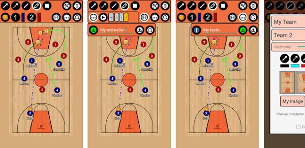 バスケットボール戦術ボード